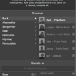 Drummer library in logic